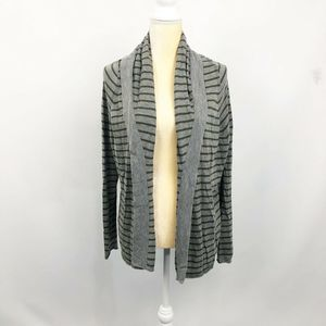 Joie Striped Hooded Cardigan Cashmere Wool